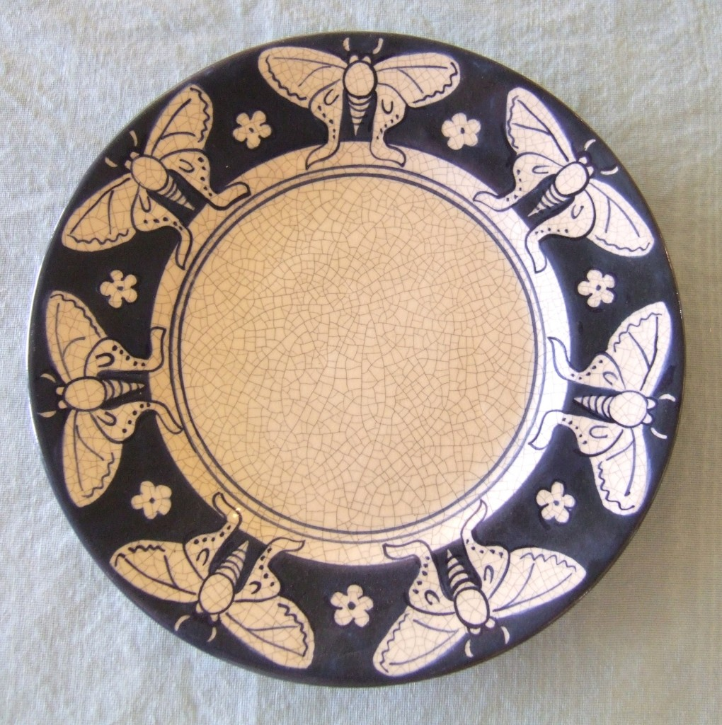 Dedham Pottery Butterfly Plate