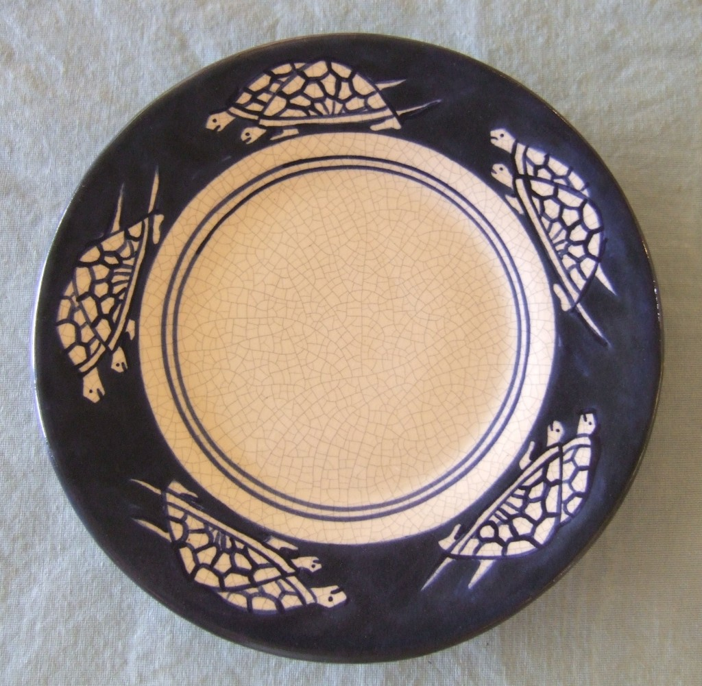 Dedham Pottery Turtle Plate