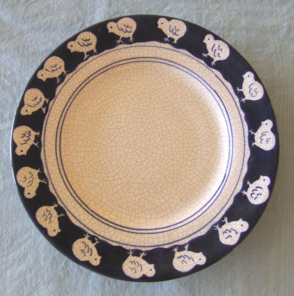 Dedham Pottery Chick Plate