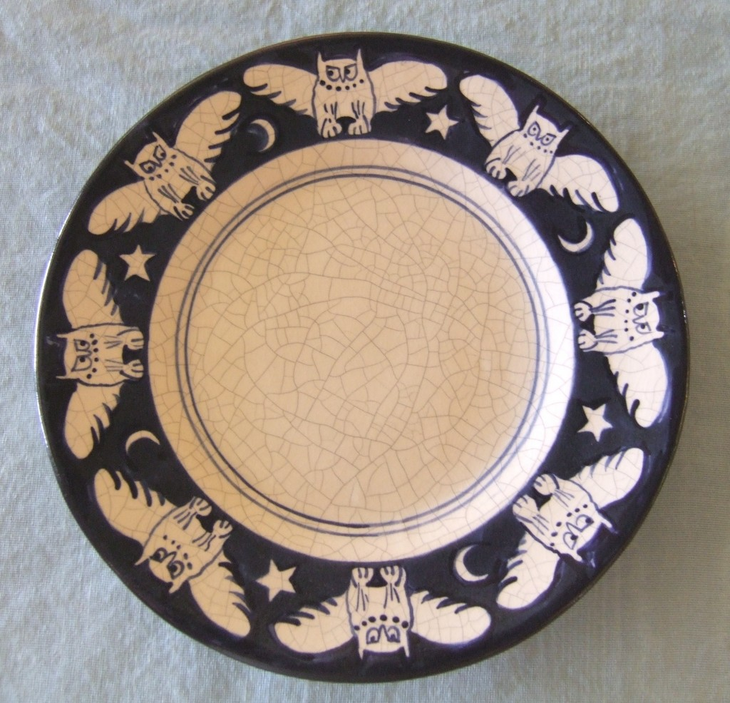 Dedham Pottery Owl Plate