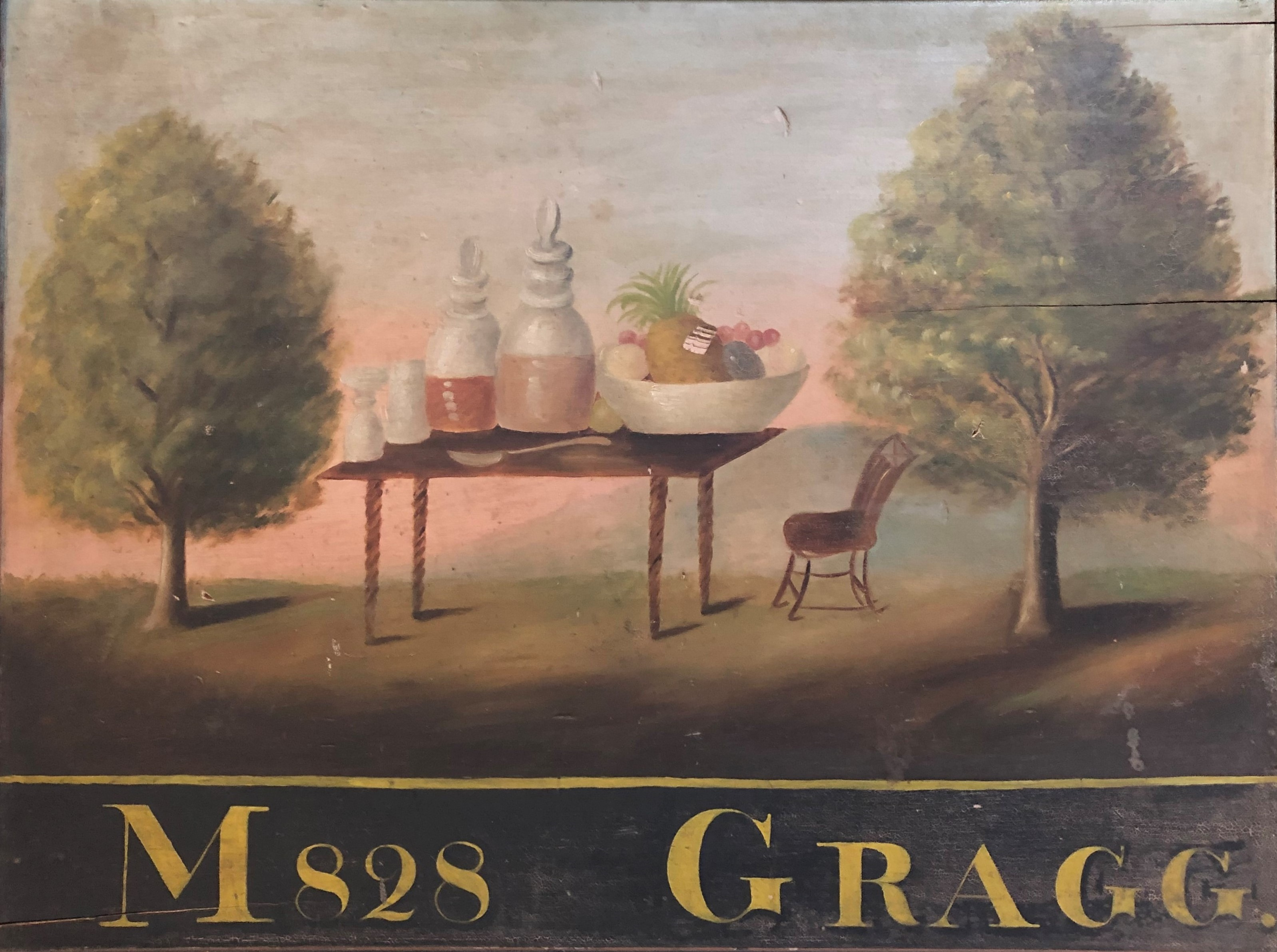 Moses Gragg Tavern Sign, 1828