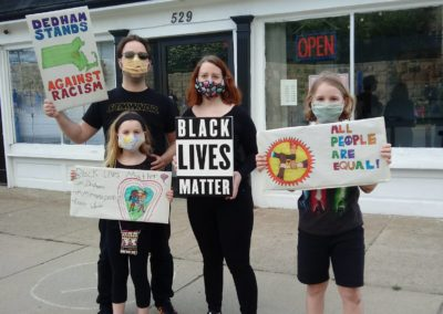 BLM June protest, Dedham.