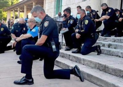 Police Kneeling. National Protest.