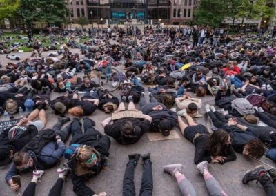 Protestors Laying Down. National Protest. June 2020