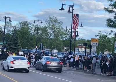 BLM protest, Dedham Square. June 2020.