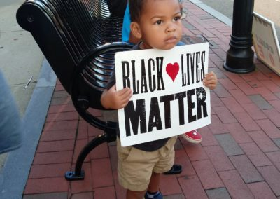 BLM Protest, August 28, 2020. Courtesy Janet Holmes.